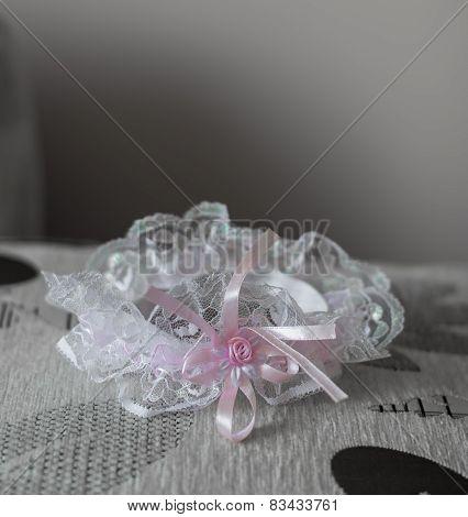 The Bride's Garter. Wedding Background