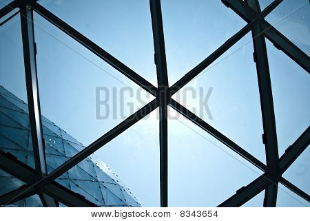window with triangular forms