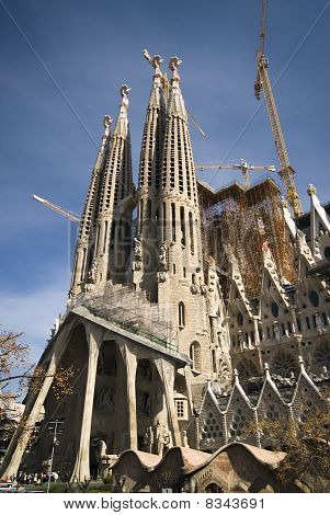 The Sagrada Famila Cathedral