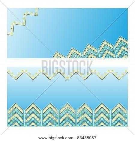 Set of Ethnic ornament pattern. Vector illustration