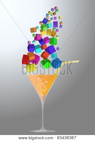 Abstract Cocktail