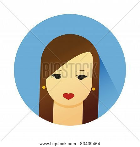 Vector Illustration Of Girl With Cute Hair Style