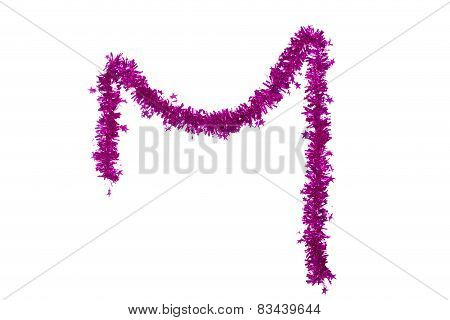 Christmas purple tinsel