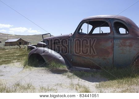 Rusty Car in Bodie Ghost town