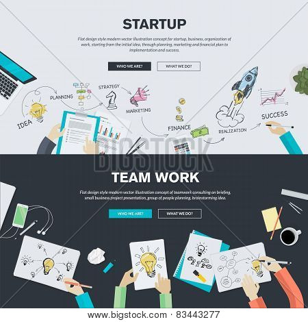 Flat design illustration concepts for business