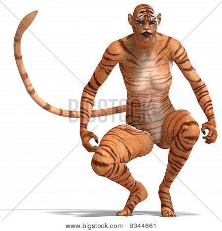 Female Fantasy Figure Tiger