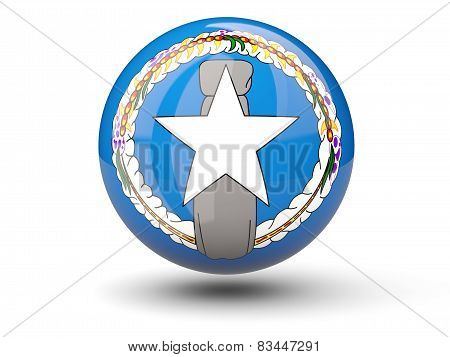 Round Icon Of Flag Of Northern Mariana Islands