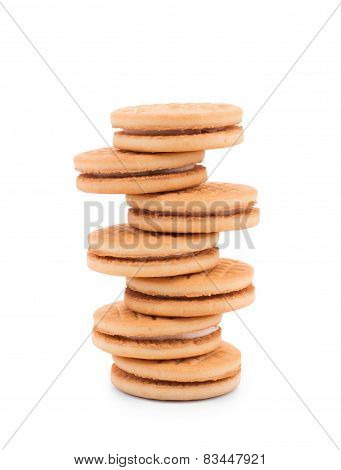 set round wholewheat biscuits