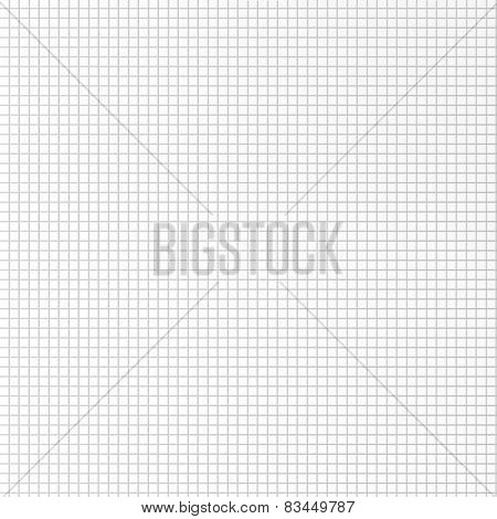 Vector seamless pattern paper exercise book in a cell.Texture notebook sheet