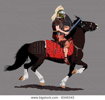 Roman Cavalry Illustration : Bigstock