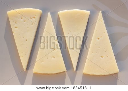Manchego semi matured cheese.