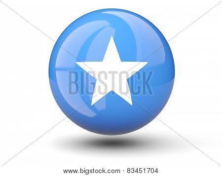 Round Icon Of Flag Of Somalia