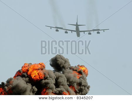 Heavy Bomber On A Mission