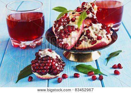Pomegranate Seeds And  Pomegranate Juice