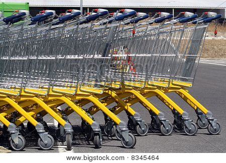 Carts of supermarket.