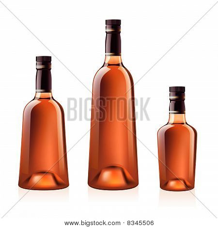 Bottles of cognac