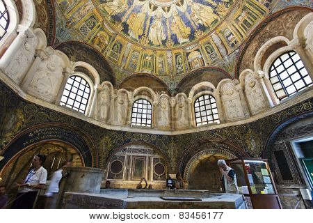 Ravenna Mosaics Of The Baptistery Of Neon