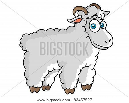 Cartoon farm sheep character