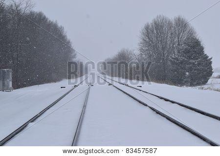 blowing snow rail road
