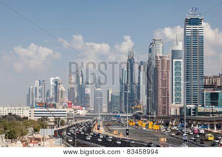 Sheikh Zayed Road In Dubai City