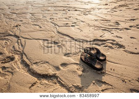 Flip Flops On The Shoreline