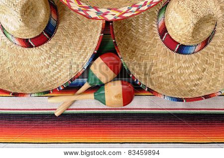 Mexican Sombreros And Maracas