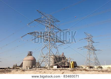 High Voltage Power Line In Dubai