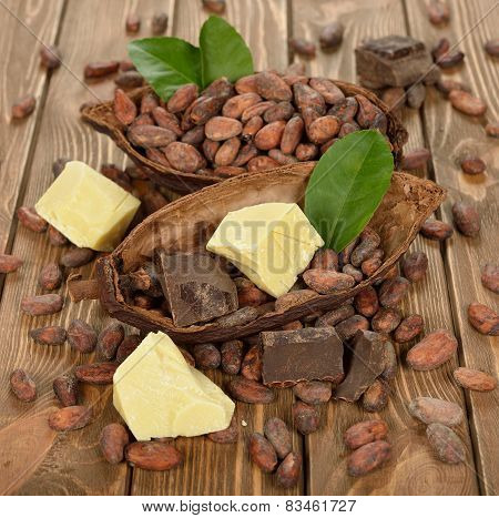 Cocoa Beans, Cocoa Butter And Cocoa Mass