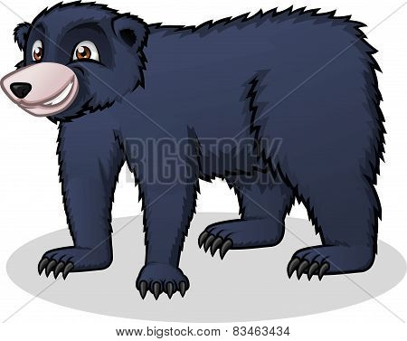 High Quality Black Bear Vector Cartoon Illustration