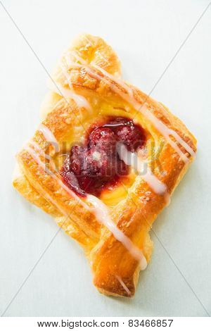 Cherry Danish Pastry  Breakfest Sweet