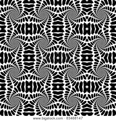 Design Seamless Monochrome Abstract Background