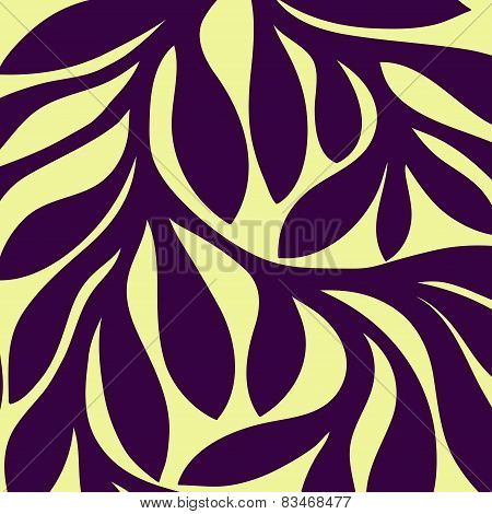 Grunge retro seamless pattern of colored leaves
