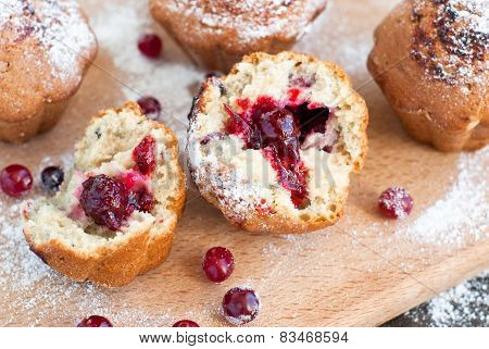Cake With Black Currant Jam
