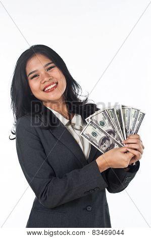 Beautiful woman with good job and success careers