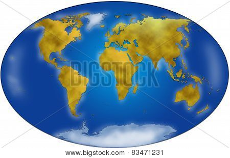 World map planisphere