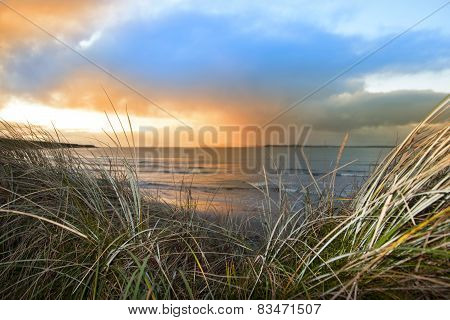 Sundown View From The Sand Dunes Of Beal