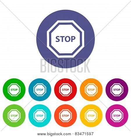 Stop flat icon