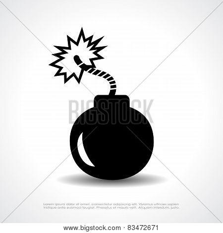 Bomb vector symbol