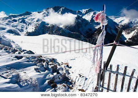 französische Alpen Landschaft