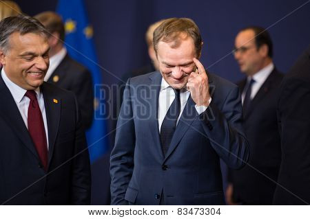 Donald Tusk At The Informal Eu Summit