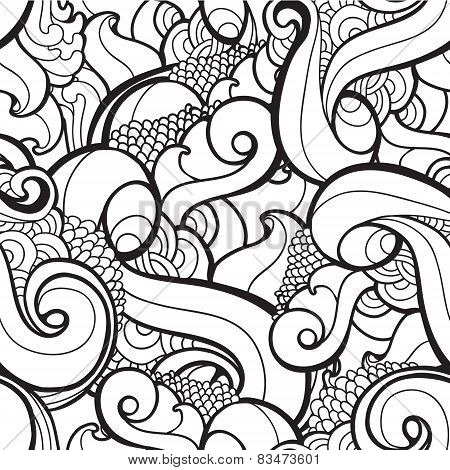 Vector seamless wavy abstract pattern.