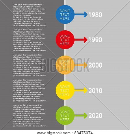 vector color info graphic time line with arrow icons
