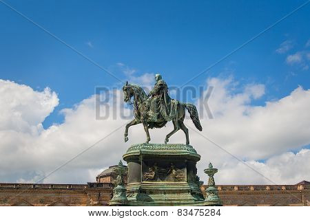 DRESDEN - equestrian statue of King John