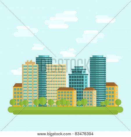 City downtown centre flat