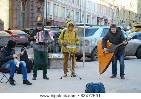 Street musical ensemble.