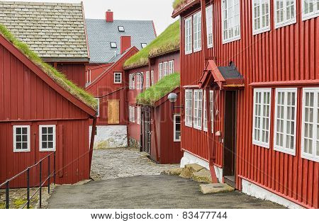 Tinganes Torshavn, Faroe islands.