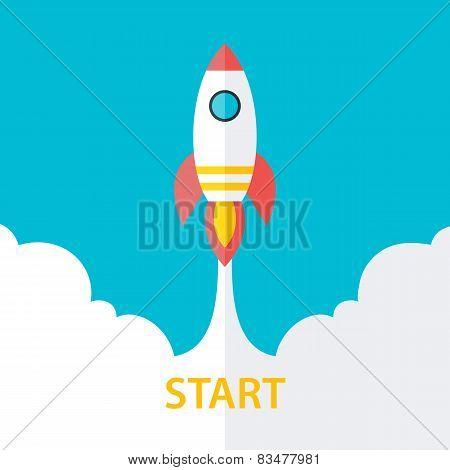 Flat Stylized Start Up