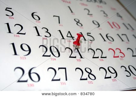Calendar with Thumbtack