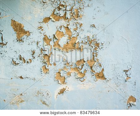 Background And Texture Of Peeling Paint On Pastering Wall