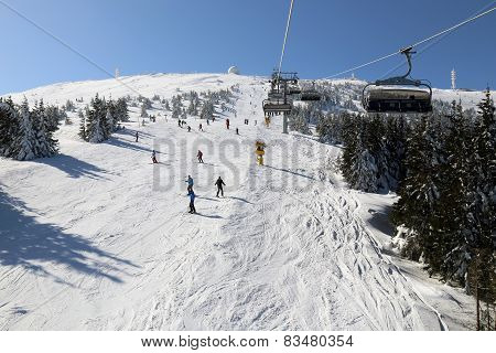 Ski resort Kopaonik in winter,  Serbia.